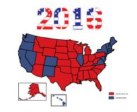 Presidential Maps 2016 Colored Stock Photo