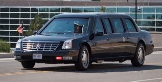 Presidential Motorcade `The Beast` stock image