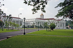 Presidential palace. Former palace of Sukarno, once the president of Indonesia. Before that this was the residence of the Dutch governor-general in Indonesia royalty free stock photos