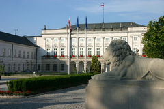 Presidential Palace. In Warsaw - the official seat of the President of the Republic of Poland Royalty Free Stock Image