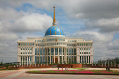 Presidential Palace, Ak-Orda. In Astana Royalty Free Stock Photo