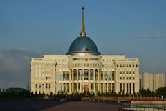 The presidential palace AK-ORDA in Astana Stock Photo