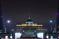 The presidential palace AK-ORDA in Astana at night Stock Photos