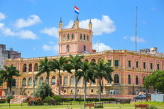 Presidential Palace in Asuncion, Paraguay. It serves as a workplace for the President and the government of Paraguay Royalty Free Stock Image