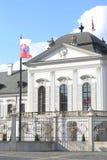 Presidential Palace Bratislava Slovakia. Closeup on Presidential pallace in city center of Slovakia´s capital - Bratislava Royalty Free Stock Images