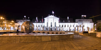 Presidential palace (Grassalkovich Palace) in Brat Royalty Free Stock Photo