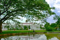 The presidential palace of indonesia in the city of Bogor.  Stock Photos