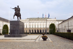 Presidential palace Koniecpolski Palace with Prince J�zef Poniat Royalty Free Stock Images