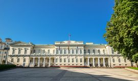 The Presidential Palace located in Vilnius Old Town, is the official office and eventual official residence of the President of Li. Vilnius, Lithuania - August stock photography