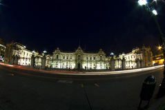 Presidential palace at night lima peru Royalty Free Stock Photos