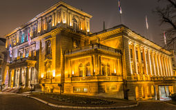 Presidential palace. Office of the President of Serbia at night in Belgrade Royalty Free Stock Photos