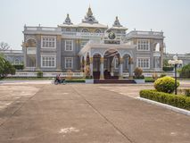 Lao Presidential Palace. Vientiane,  Laos. Presidential Palace is the official residence of Bounnhang Vorachith, the President of Laos and General Secretary of Royalty Free Stock Image