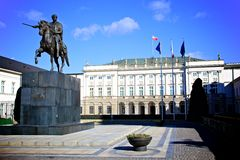 Presidential Palace, Poland Royalty Free Stock Photography