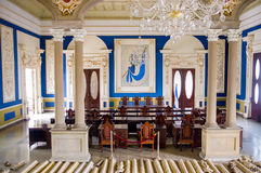 Presidential palace during renovations, El Stock Image