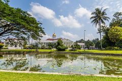 Presidential Palace of the Republic of Indonesia in Bogor, West. Java, Indonesia Royalty Free Stock Photography
