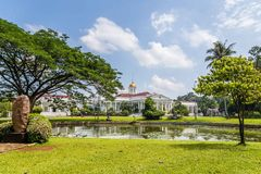 Presidential Palace of the Republic of Indonesia in Bogor, West. Java, Indonesia Royalty Free Stock Photo