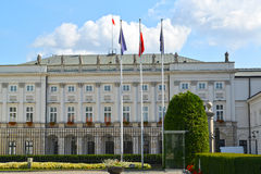 The presidential palace on the street the Krakow suburb, 46/48. Warsaw, Poland Stock Images