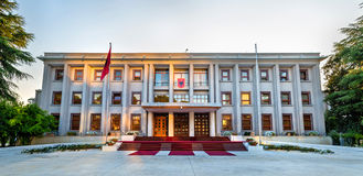 The Presidential Palace of Tirana. Albania Royalty Free Stock Photo