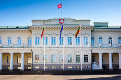 The Presidential Palace in Vilnius Stock Photo