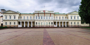 Presidential Palace, Vilnius. The presidential palace in Vilnius, Lithuania on a cloudy day Stock Photos