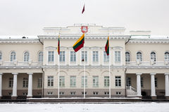 The Presidential Palace in Vilnius Stock Images