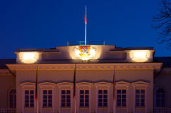 The Presidential Palace in Vilnius night detail Royalty Free Stock Photo