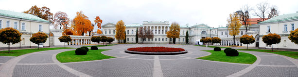 The Presidential Palace in Vilnius, the official residence of the President. Of Lithuania royalty free stock images