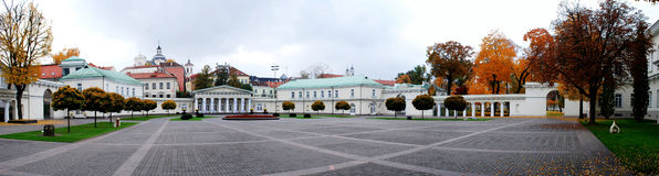 The Presidential Palace in Vilnius, the official residence of the President. Of Lithuania stock photo