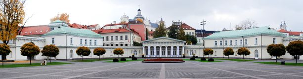 The Presidential Palace in Vilnius, the official residence of the President. Of Lithuania stock photos