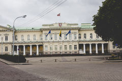 The Presidential Palace in Vilnius, the official residence of th. E President of Lithuania stock photography