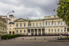The Presidential Palace in Vilnius, the official residence of th. E President of Lithuania royalty free stock image