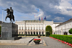Presidential palace Warsaw Royalty Free Stock Images