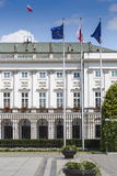 Presidential Palace in Warsaw, Poland. Before it: Bertel Thorval Royalty Free Stock Photography