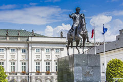 Presidential Palace in Warsaw, Poland. Before it: Bertel Thorval Royalty Free Stock Image