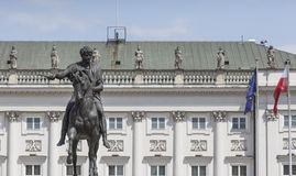 Presidential Palace in Warsaw, Poland. Before it: Bertel Thorval Stock Photos