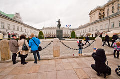 Presidential Palace in Warsaw, Poland Stock Image