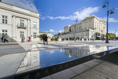 Presidential Palace in Warsaw, Poland. WARSAW, POLAND - SEPTEMBER 27, 2015: The Presidential Palace in Warsaw, Poland. The palace's architect was Constantino Stock Photography