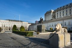 Presidential Palace in Warsaw, Poland. Royalty Free Stock Photo