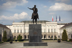 Presidential palace in Warsaw Stock Image