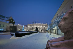 Presidential Palace in Warsaw during winter time Royalty Free Stock Photography