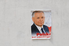 Presidential polish candidate Jaroslaw Kaczynski Royalty Free Stock Photo