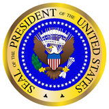 Presidential Seal. A Presidential seal design isolated on a white background Royalty Free Stock Images