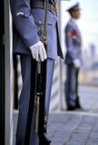 Presidential sentries- Prague, Czech Republic royalty free stock image