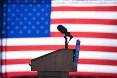 Presidential speakers podium Stock Photos