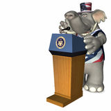 Presidential Speech 2. Presidential Speech Represented by a Republican Political Elephant Vector Illustration