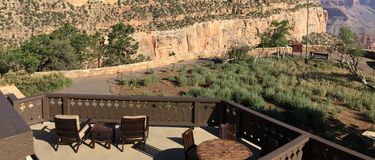 Presidential Suite View of the Grand Canyon stock image