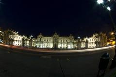 Presidentieel paleis bij nacht lima Peru royalty-vrije stock foto's