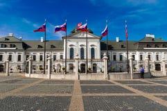 Presidentieel Paleis in Bratislava Stock Fotografie