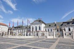 Presidentieel paleis in Bratislava, stock afbeelding