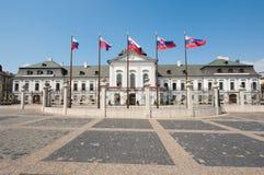 Presidentieel paleis in Bratislava, Slowakije royalty-vrije stock afbeelding